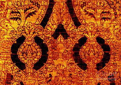 Digital Art - Antique Continental Golden Pineapples by Peter Gumaer Ogden