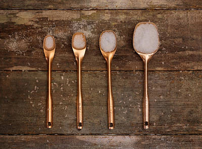Photograph - Antique Copper Measuring Spoons by Kim Hojnacki