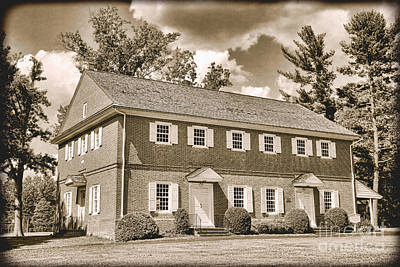 Quaker Meeting Photograph - Antique Crosswicks Meeting House by Olivier Le Queinec
