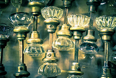 Photograph - Antique Crystal Door Knobs by Colleen Kammerer