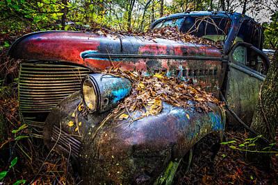 Old Pickup Photograph - Antique by Debra and Dave Vanderlaan