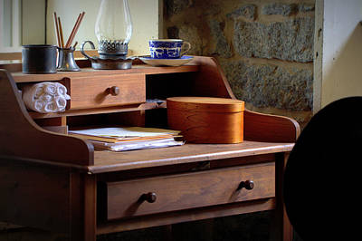Photograph - Antique Desk Scene by Joseph Skompski