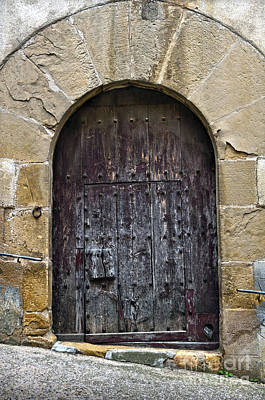 Photograph - Antique Door With Cat Flap by RicardMN Photography