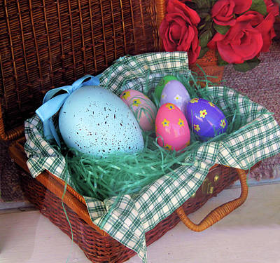 Photograph - Antique Easter Basket by Rosalie Scanlon