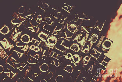 Communications Photograph - Antique Enigma Code by Jorgo Photography - Wall Art Gallery