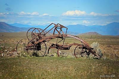 Photograph - Antique Farm Equipment by Deana Glenz