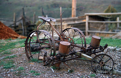 Photograph - Antique Farm Implement by Rick Bures