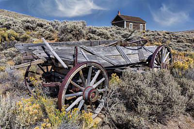 Photograph - Antique Farm Wagon In Wyoming by Kathleen Bishop
