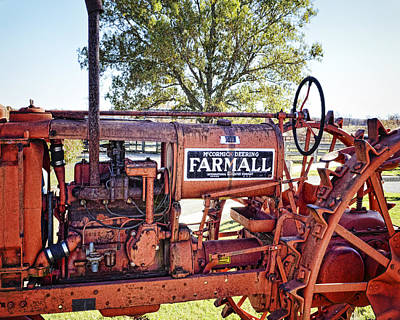 Photograph - Antique Farmall Tractor Photography By Ann Powell by Ann Powell