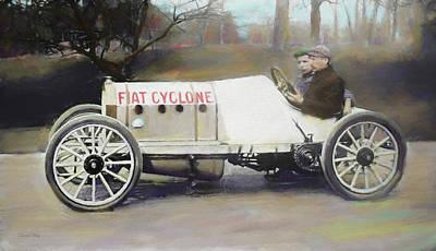Digital Art - Antique Fiat Racer Dop by David King