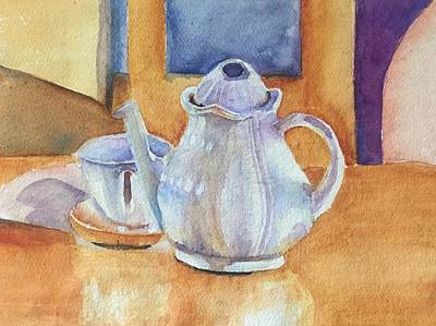 Teapot Painting - Antique Find Teapot by Catherine Putzier