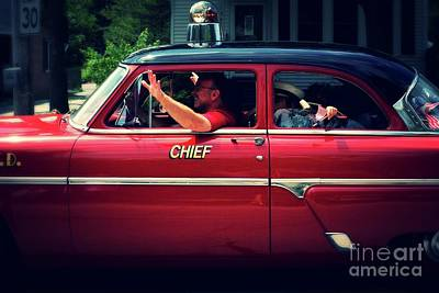 Photograph - Antique Fire Chief Car by Frank J Casella
