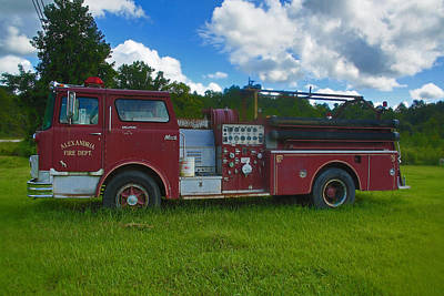 Photograph - Antique Fire Truck by Ronald Olivier