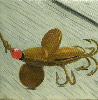 Painting - Antique Fishing Lure by Kathy Lumsden