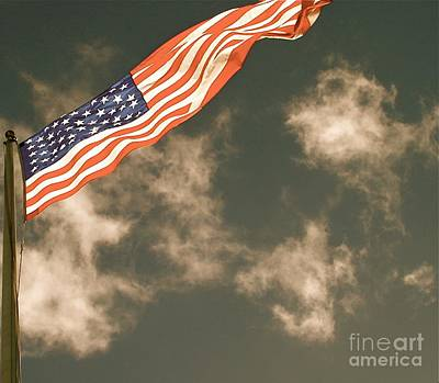 Photograph - Antique Flag by Louise Fahy
