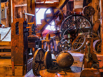 Photograph - Antique Flour Mill by Leland D Howard