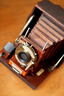Steampunk Royalty-Free and Rights-Managed Images - Antique Folding Camera by Rebecca Brittain