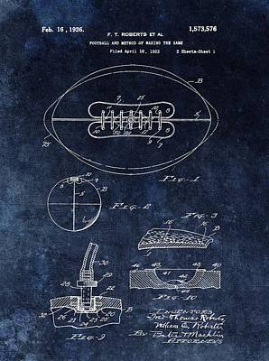 Player Drawing - Antique Football Patent Drawing by Dan Sproul