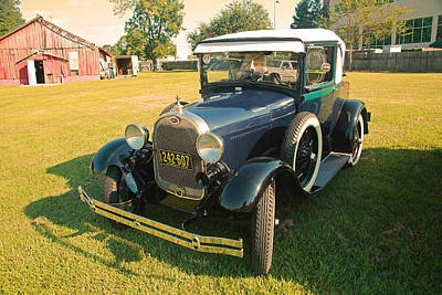 Photograph - Antique Ford Car by Ronald Olivier