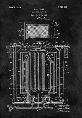 Drawing - Antique Furnace Patent by Dan Sproul