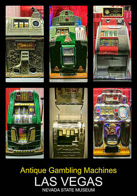 Photograph - Antique Gambling Machines Poster by Tatiana Travelways
