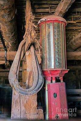 Photograph - Antique Gas Pump by Jim West