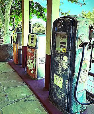 Photograph - Antique Gas Pumps Los Alamos California by Barbara Snyder