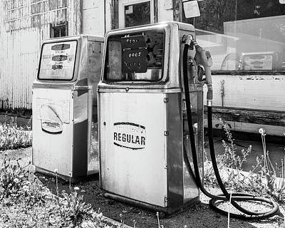 Photograph - Antique Gas Pumps by Mark Dahmke
