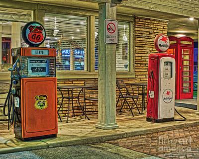 Antique Gas Pumps Art Print