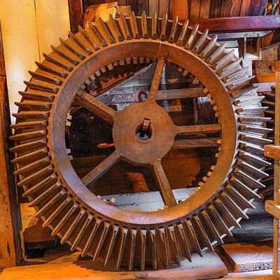 Old West Photograph - Antique Gear by Leland D Howard