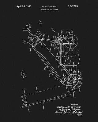 Golf Mixed Media - Antique Golf Cart Patent by Dan Sproul