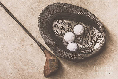 Antique Golfer Still Life Art Print