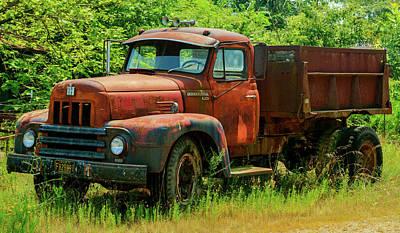 Photograph - Antique Gravel Truck by Douglas Barnett