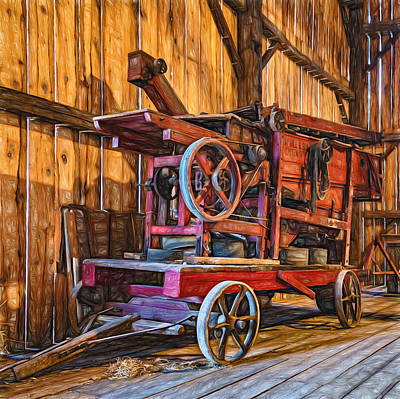 Antique Hay Baler Retirement  Art Print