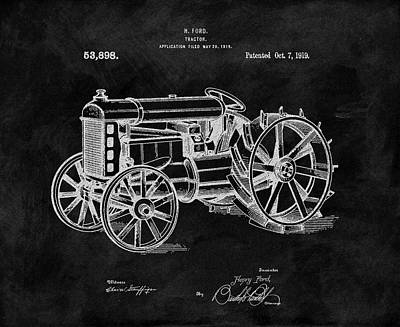 Michigan Drawing - Antique Henry Ford Design Tractor by Dan Sproul