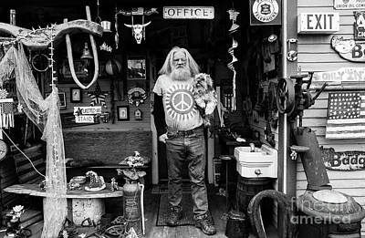 Photograph - Antique Home With Owner And His Dog by Jim Corwin