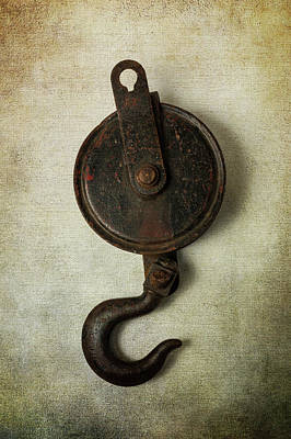 Photograph - Antique Hook And Pulley by Garry Gay