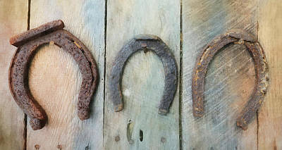 Photograph - Antique Horseshoes by Lori Deiter