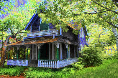 Photograph - Antique House -  Architecture Series 25 by Carlos Diaz