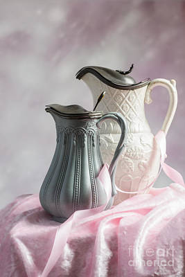Ceramic Design Photograph - Antique Jugs by Amanda Elwell