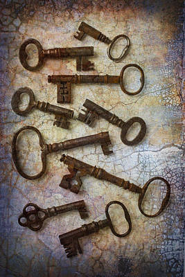 Chip Photograph - Antique Keys Collection by Garry Gay