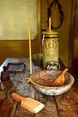 Photograph - Antique Kitchen by Ann Bridges