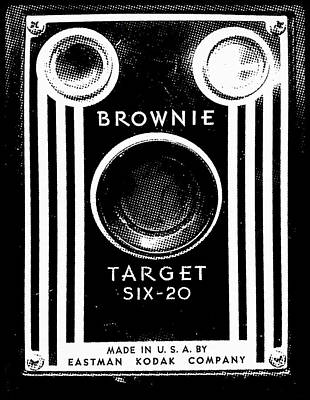 Brownie Painting - Antique Kodak Brownie Camera by Little Bunny Sunshine