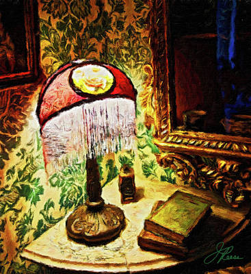 Painting - Antique Lamp  by Joan Reese