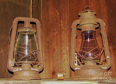 Photograph - Antique Lamps by D Hackett