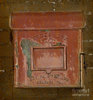 Photograph - Antique Letter Box by John Stephens