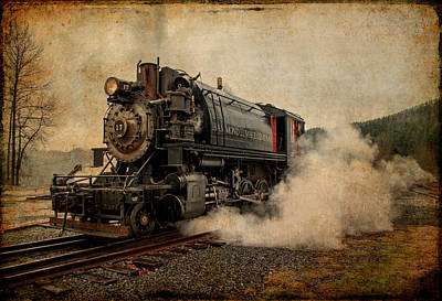Photograph - Antique Locomotive by Mary Jo Allen