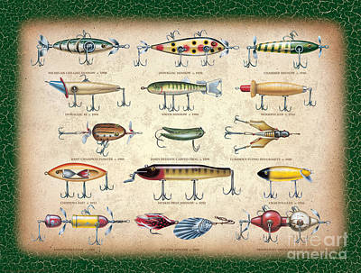 Antique Lures Panel Art Print