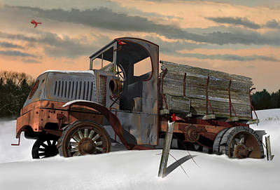 Digital Art - Antique Mack Ac by Stuart Swartz