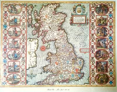 Photograph - Antique Map British Isles by Caroline Stella